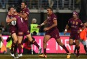 Queensland Maroons celebrate <br /> <a href='http://www.theroar.com.au/2015/05/27/state-of-origin-2015-game-1-in-images-and-video/'>State of Origin 2015: Relive Game 1 in images and video</a>