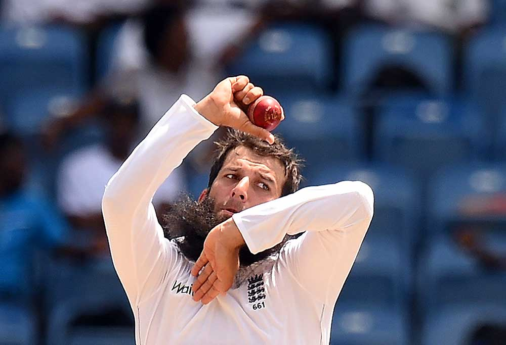Englands cricketer Moeen Ali