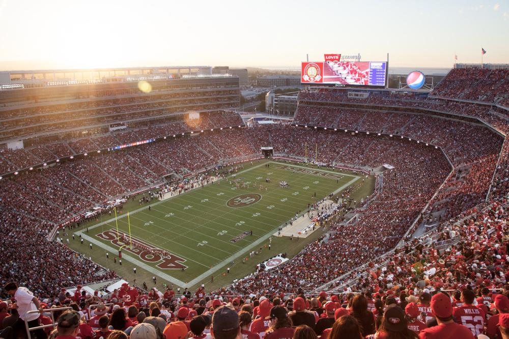 The San Francisco 49er's home ground, Levi's Stadium.