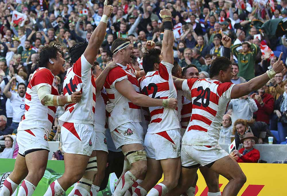 The moment Japan defeated the Springboks