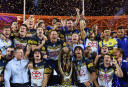 North Queensland Cowboys celebrate winning the 2015 NRL Grand Final <br /> <a href='http://www.theroar.com.au/2015/10/04/cowboys-trump-broncos-with-goldenpoint-thurston-field-goal/'>Cowboys trump Broncos with golden-point Thurston field goal</a>