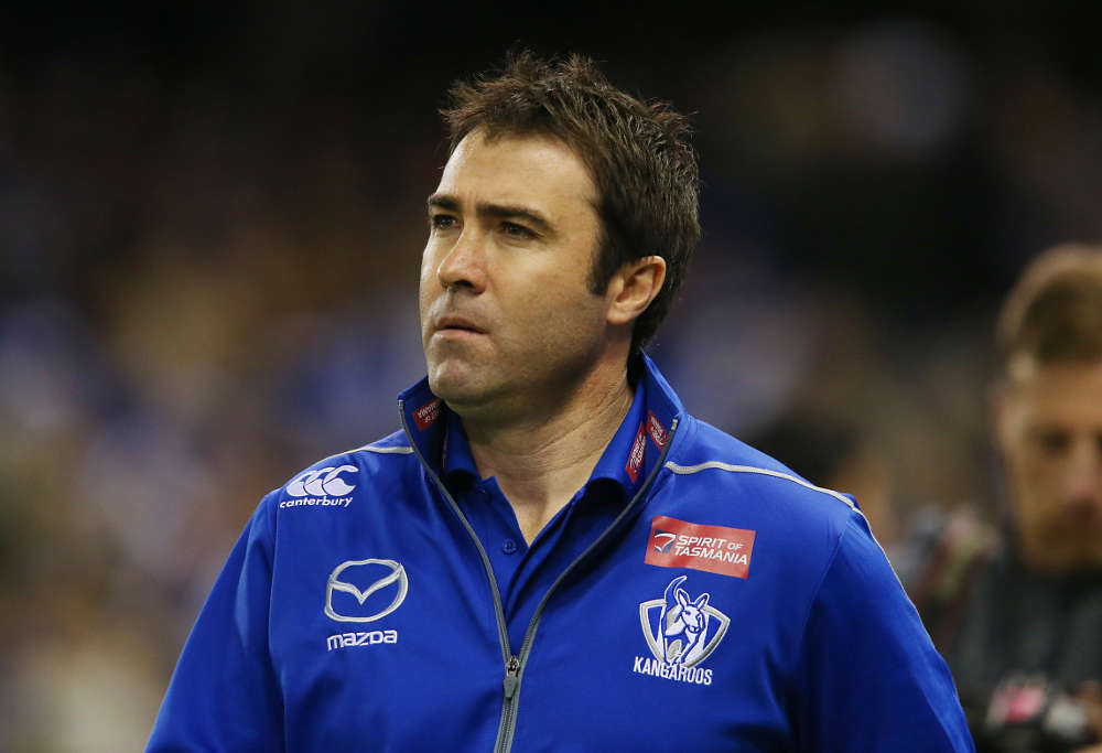 North Melbourne coach Brad Scott