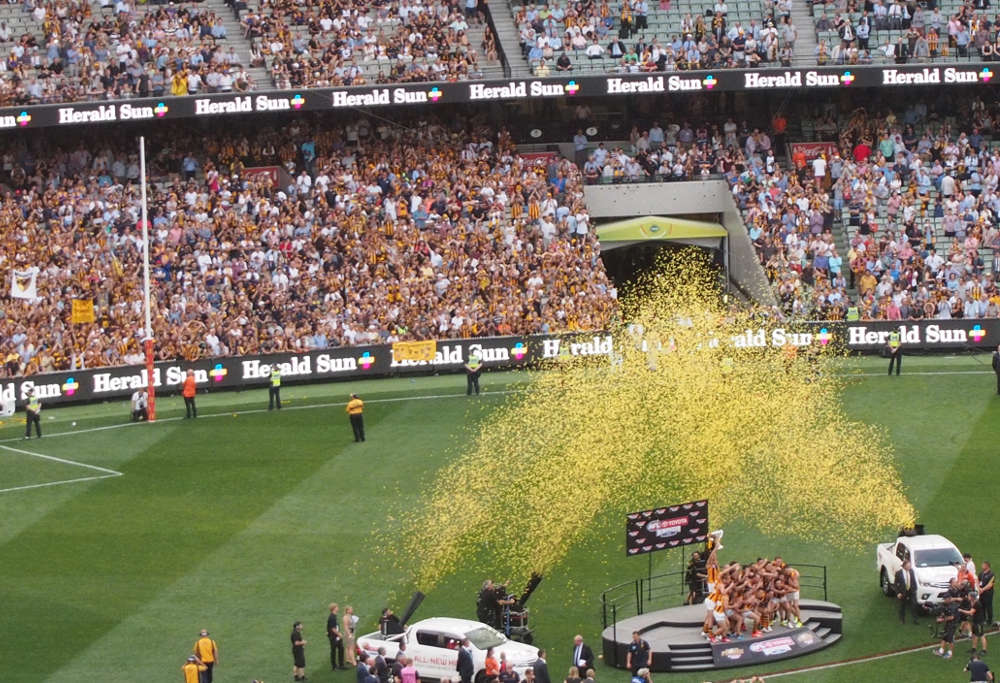 Hawthorn Hawks win the 2015 AFL Grand Final