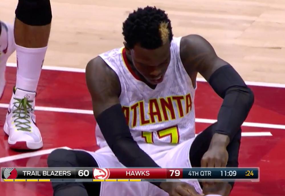 Dennis Schroder for the Atlanta Hawks. Image: YouTube.