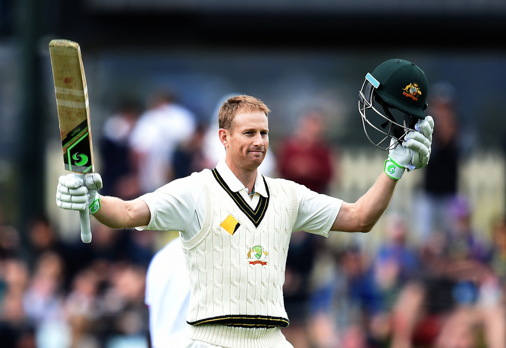 Adam Voges scores his maiden double century against the West Indies (AAP/Dave Hunt)