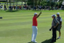 WATCH: Harrington gets ball lodged in palm tree