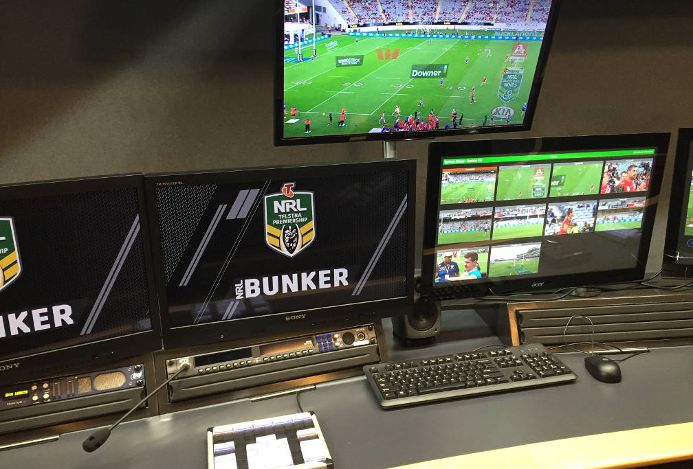 NRL video bunker panels