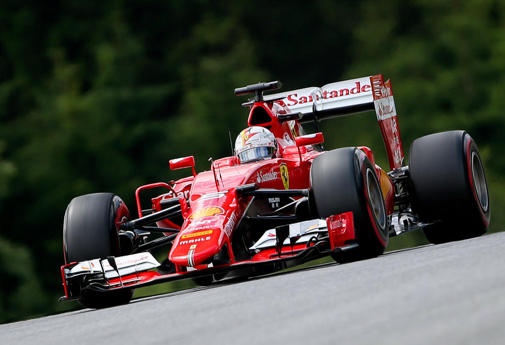 Sebastian Vettel races