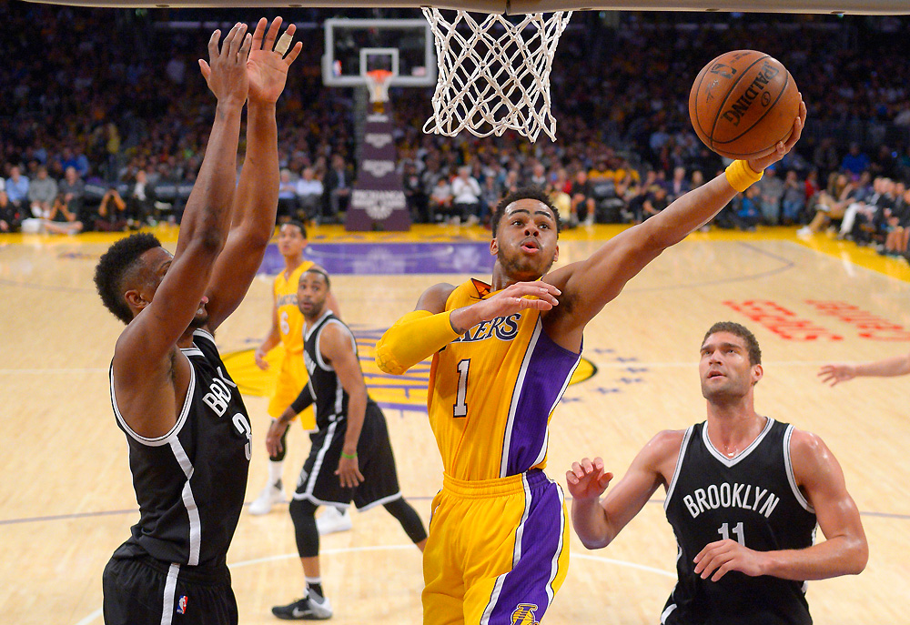 Los Angeles Lakers guard D'Angelo Russell