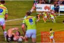 Tigers player lying down against Canberra <br /> <a href='http://www.theroar.com.au/2016/04/28/nrl-thursday-night-forecast-rabbitohs-vs-tigers/'>NRL Thursday Night Forecast: Rabbitohs vs Tigers</a>