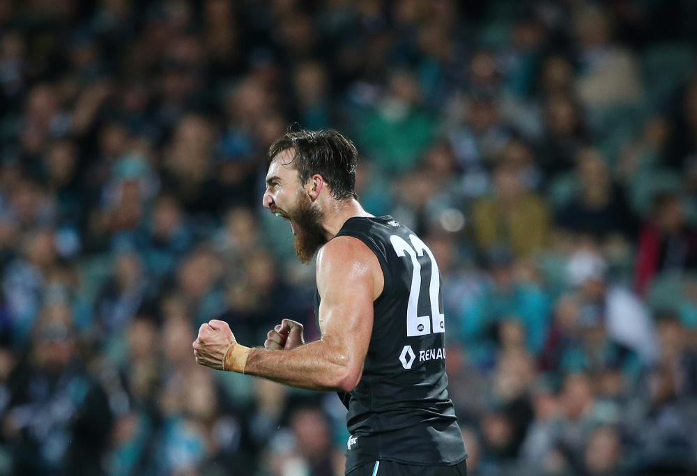 Port Adelaide fan pictured wearing a Nazi swastika armband