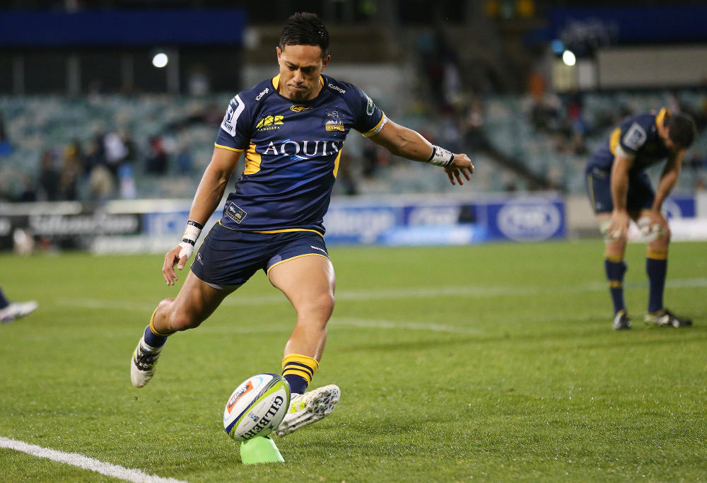 Christian Lealiifano Brumbies Rugby Union Super Rugby 2016