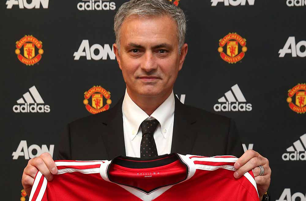 Jose Mourinho manager of Manchester United