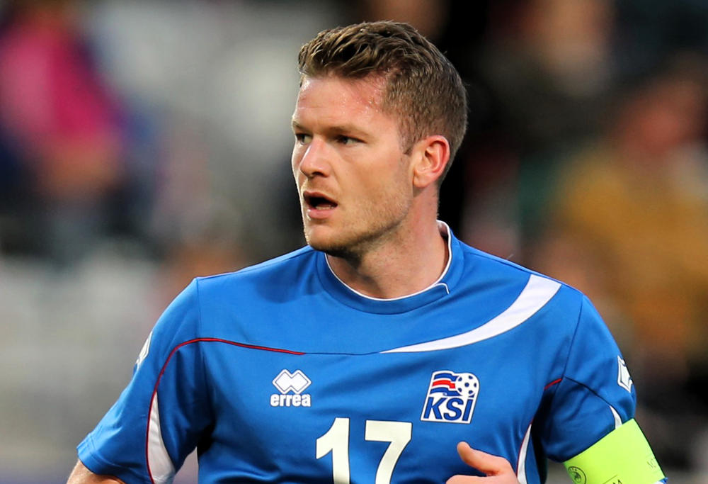 Iceland football captain Aron Gunnarsson