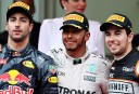 Shoey fits for Ricciardo as Hamilton wins