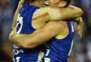 Brent Harvey North Melbourne Kangaroos AFL 2016 tall <br /> <a href='http://www.theroar.com.au/2016/07/30/roos-win-in-harveys-record-breaker/'>Highlights: Roos win in Harvey's record-breaker</a>