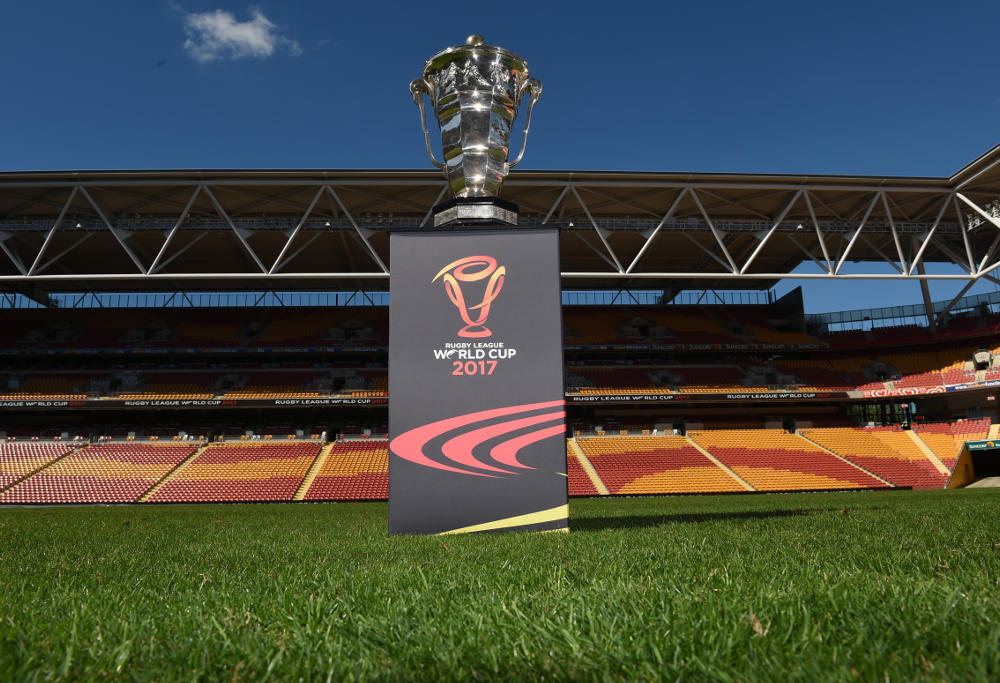 Rugby League World Cup trophy 2017.