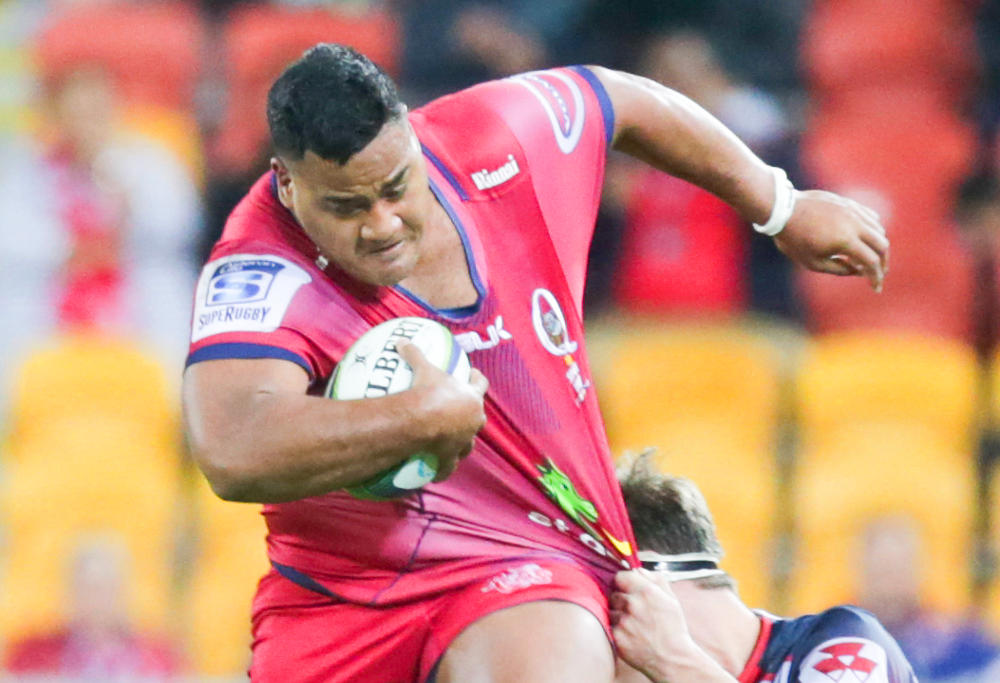Taniela Tupuo Reds running against the Rebels
