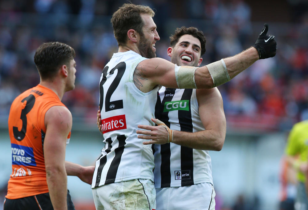 Travis Cloke Collingwood Magpies AFL 2016
