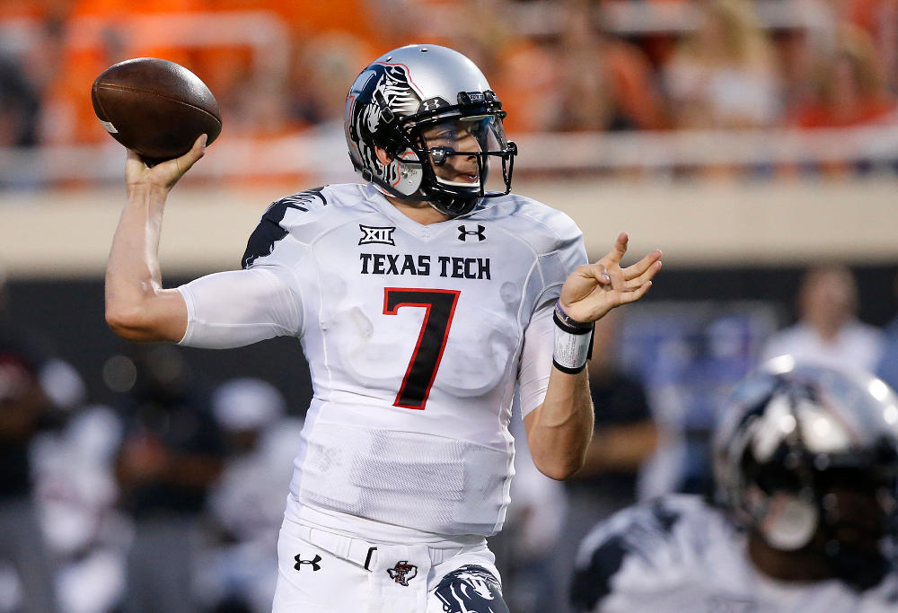 former Texas Tech quarterback Davis Webb