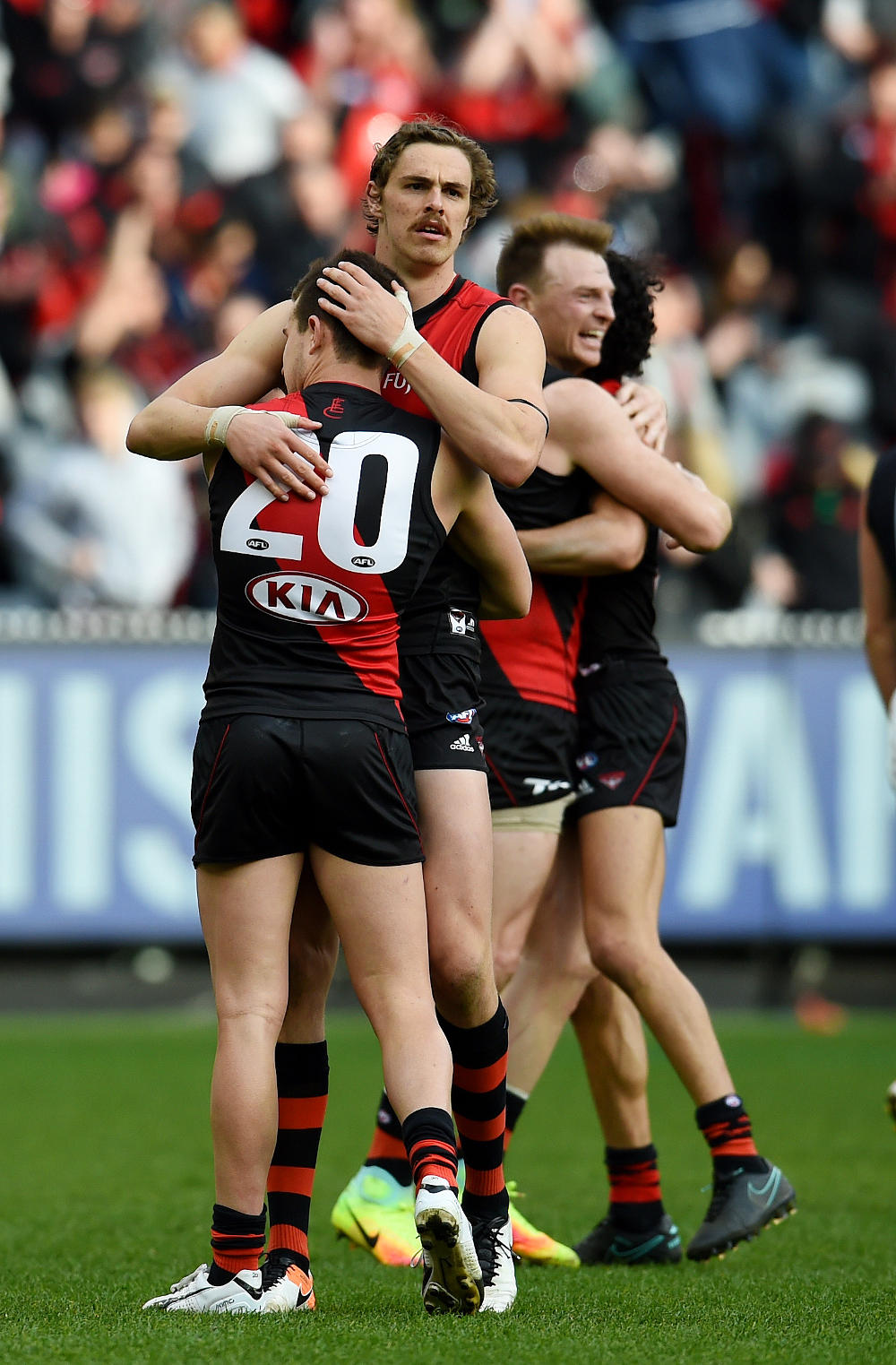 Joe Daniher Brendon Goddard AFL Essendon Bombers 2016 tall