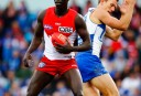Aliir Aliir of the Sydney Swans North Melbourne Kangaroos <br /> <a href='http://www.theroar.com.au/2016/09/08/unheralded-players-can-make-impact-afl-finals/'>The unheralded players who can make an impact in the AFL finals</a>