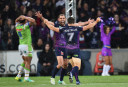 Cameron Smith Melbourne Storm NRL Finals Rugby League 2016 <br /> <a href='http://www.theroar.com.au/2016/09/24/highlights-storm-going-to-the-grand-final-after-14-12-win-over-raiders/'>Highlights: Storm going to the grand final after 14-12 win over Raiders</a>