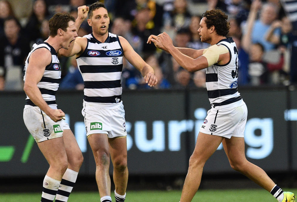 Geelong Cats Patrick Dangerfield Harry Taylor Steven Motlop AFL 2016