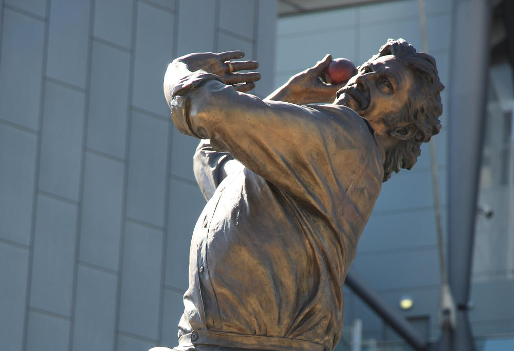 Dennis Lillee statue at the MCG