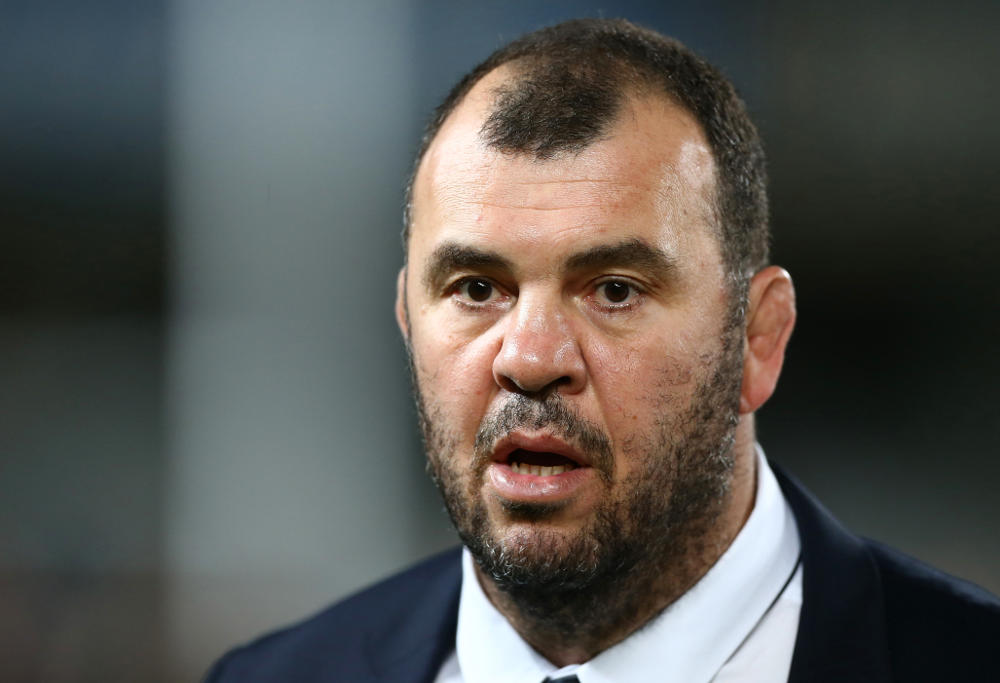 Michael Cheika, Wallabies head coach stares in bemusement