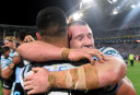 Paul Gallen leads the Sharks into the history books