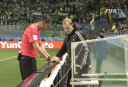Referee uses video technology <br /> <a href='http://www.theroar.com.au/2016/12/15/watch-history-made-with-video-reviewed-penalty/'>WATCH: History made with video-reviewed penalty</a>