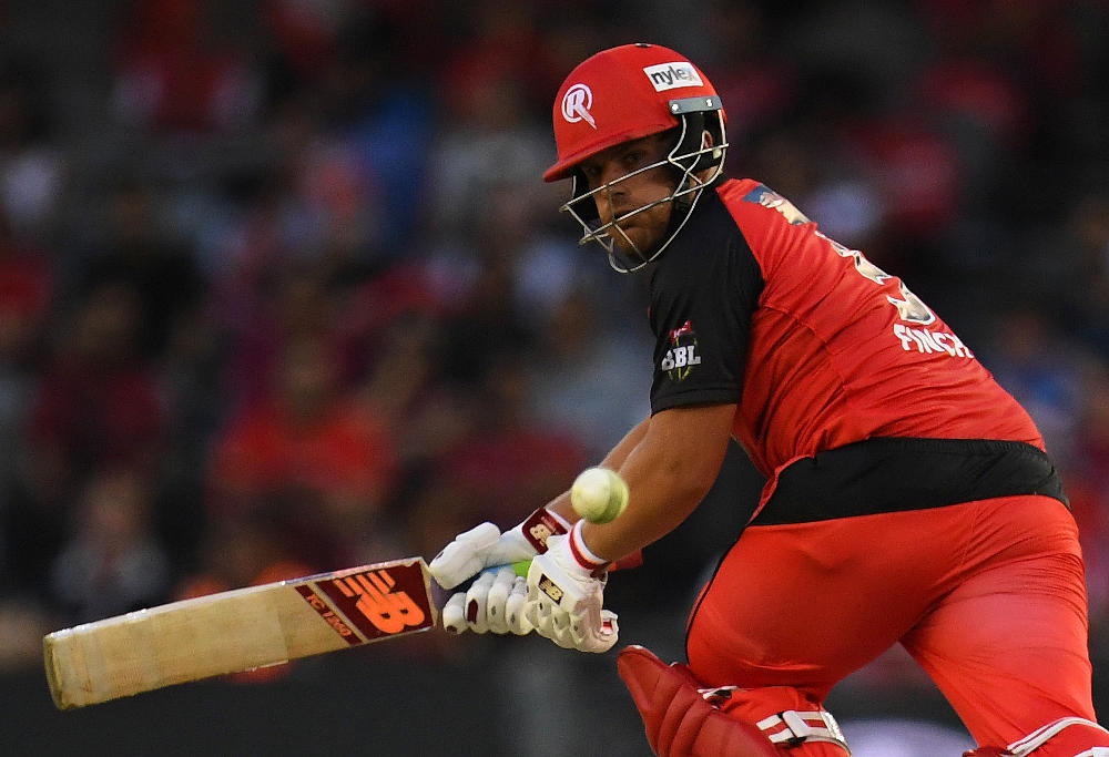 Aaron Finch of the Melbourne Renegades