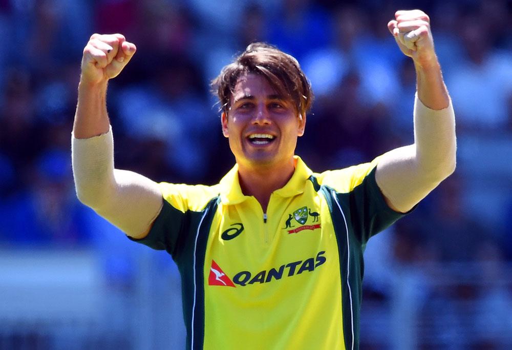 Marcus Stoinis of Australia celebrates
