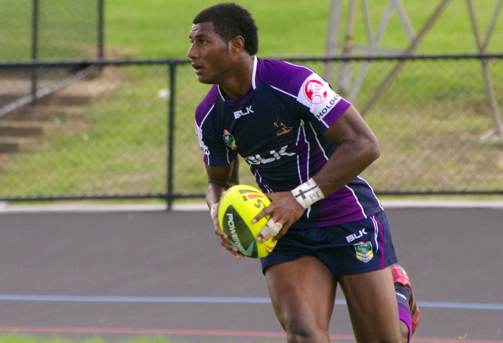 Suliasi Vunivalu trains for the Melbourne Storm (Naparazzi)