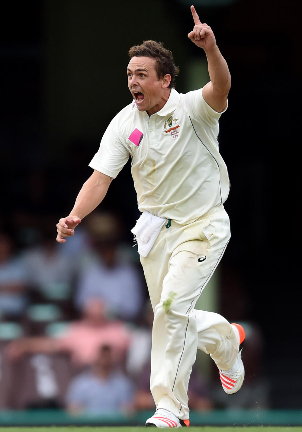 Stephen O'Keefe celebrates Australia