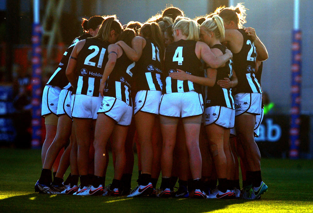 collingwood women The collingwood football club has come out in defence of president eddie mcguire after the broadcaster was once again embroiled in a storm of controversy involving women.