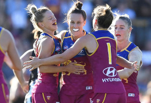 Luckless Lions lose again in shambolic AFLW grand final farce