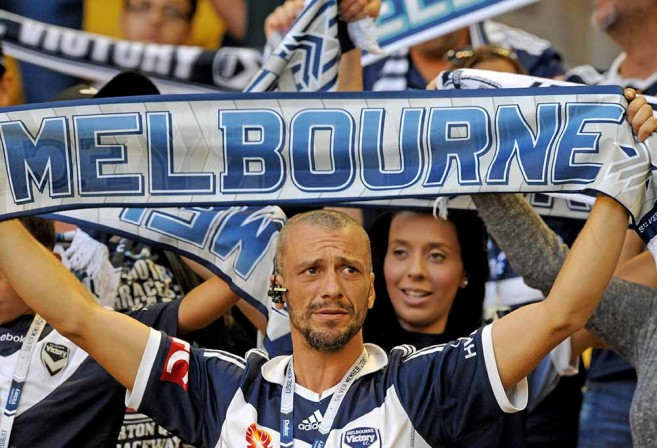 A-League fans have adopted European scarf wearing
