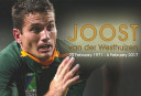Joost van der Westhuizen <br /> <a href='http://www.theroar.com.au/2017/02/08/vale-joost-van-der-westhuizen-player-made-cry/'>Vale Joost van der Westhuizen, the player who made me cry</a>