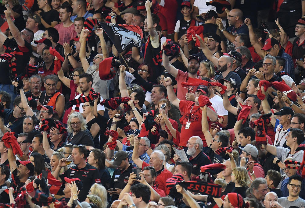 Essendon Bombers fans AFL 2017