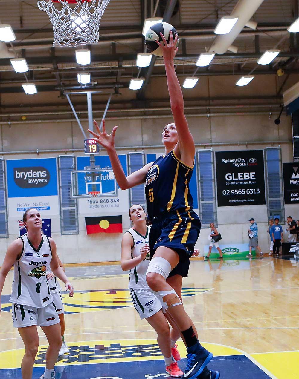 Jennifer Hamson of the Sydney University Flames in the WNBL