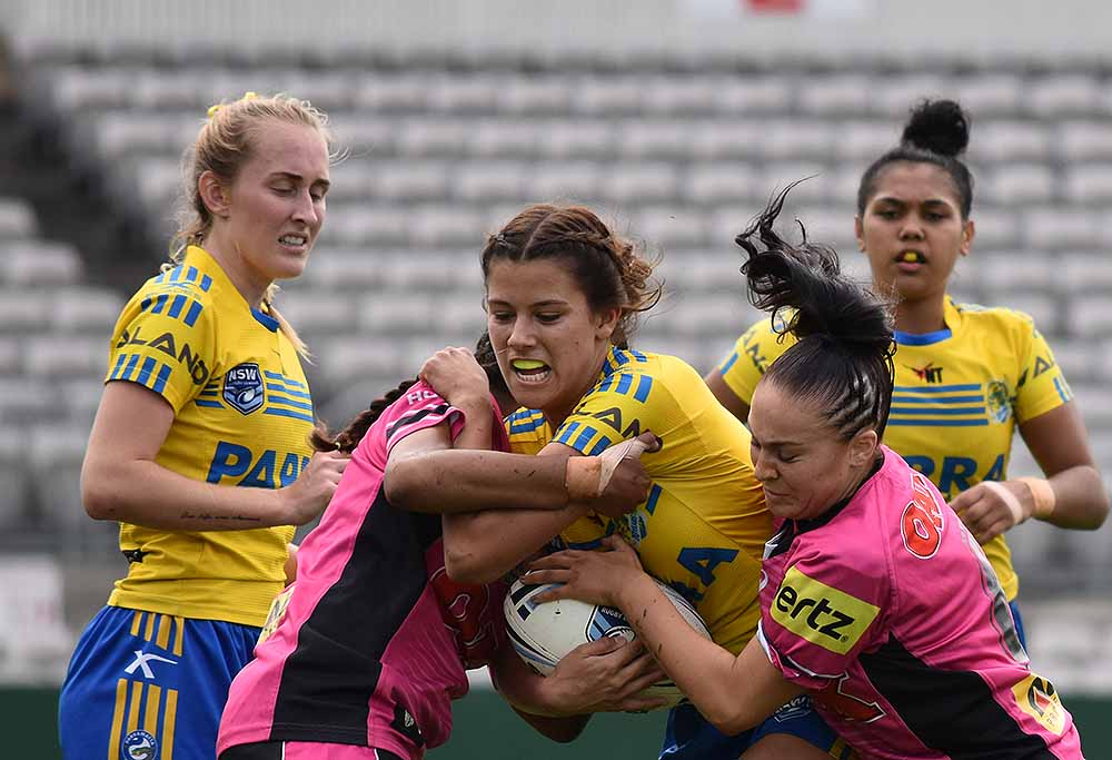 Parramatta Eels versus Penrith Panthers women's rugby league NRL rugby league SG Ball Image: Sean Teuma
