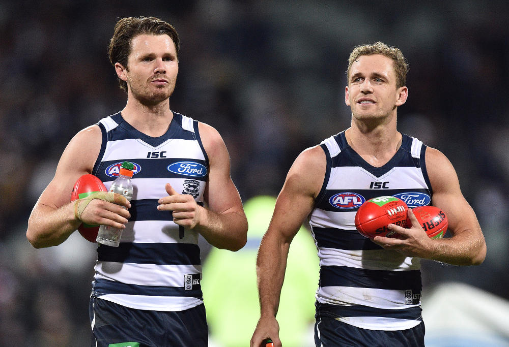 Patrick Dangerfield Joel Selwood Geelong Cats AFL 2016