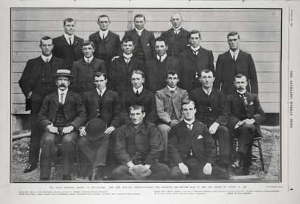 The New Zealand rugby union side before their first Test against Great Britain