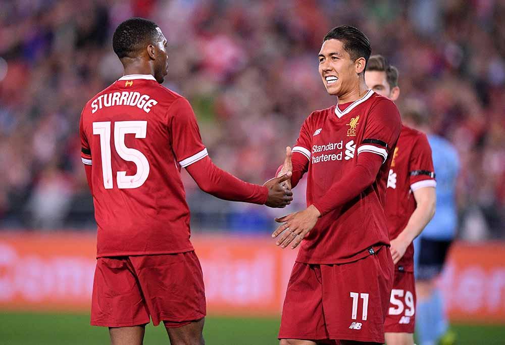 Roberto Firmino and Daniel Sturridge for Liverpool FC