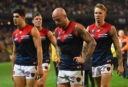 Nathan Jones Melbourne Demons AFL 2017 <br /> <a href='http://www.theroar.com.au/2017/05/07/ten-quick-takes-afl-round-7/'>Ten quick takes from AFL Round 7</a>