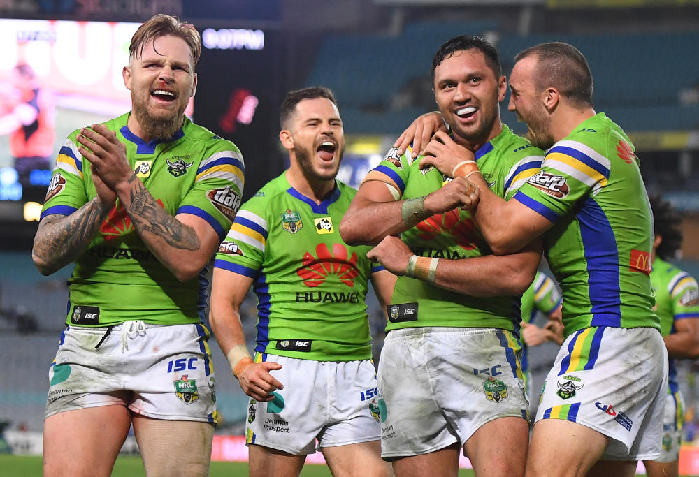 Jordan Rapana Canberra Raiders NRL Rugby League 2017