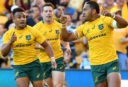 Sefa Naivalu Wallabies Australia Rugby Union 2017 <br /> <a href='http://www.theroar.com.au/2017/06/25/wallabies-beat-azzurri-photo-finish/'>Wallabies beat the Azzurri in a photo finish</a>