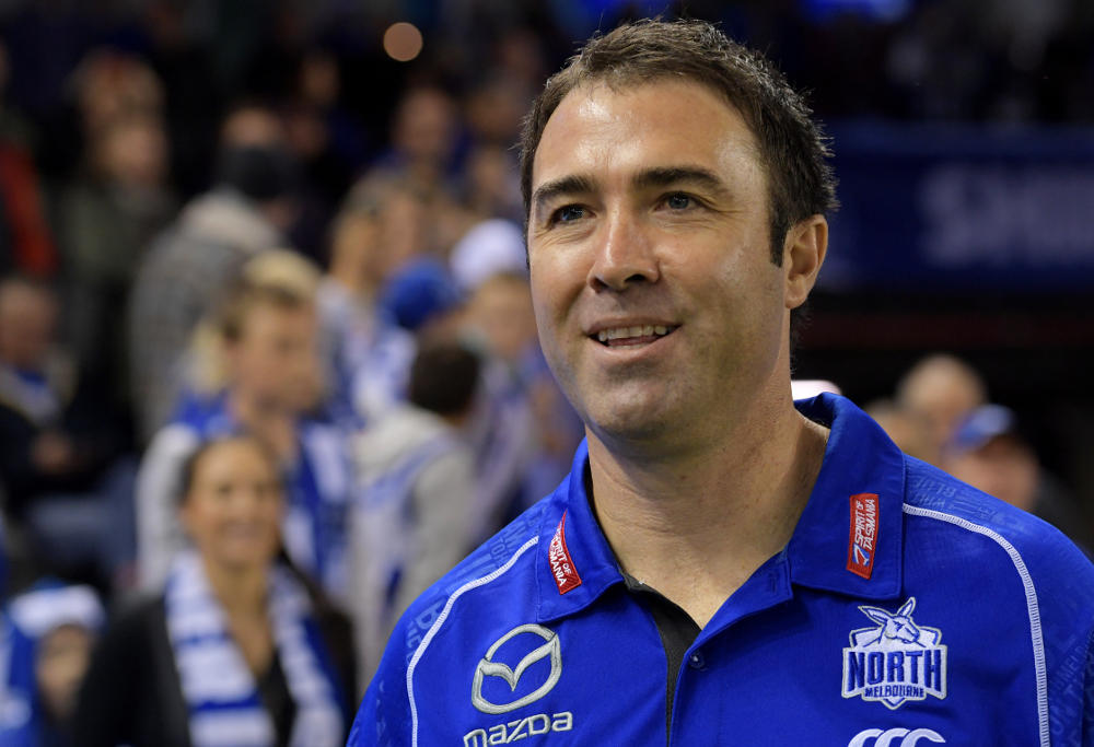 Brad Scott North Melbourne Kangaroos AFL 2017